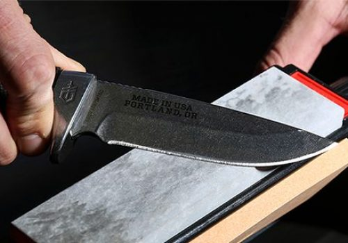 sharpening combat knife